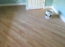 Sanded Red Oak flooring