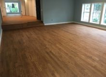 Stained and sealed red oak flooring