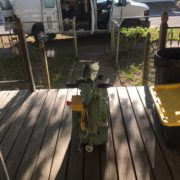 unloading floor sander and wood floor refinishing gear