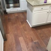 Installed Pergo handscraped hickory flooring