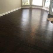 Installed maple flooring