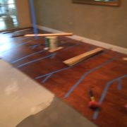Installing prefinished birch wood flooring