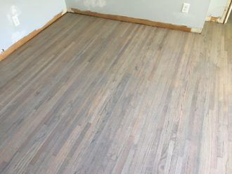 Refinished Grey Stained Red Oak Floors