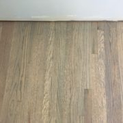 Refinished, grey stained, red oak floors