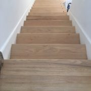 Sanded red oak stairs - Ortega