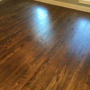 Red oak plank flooring