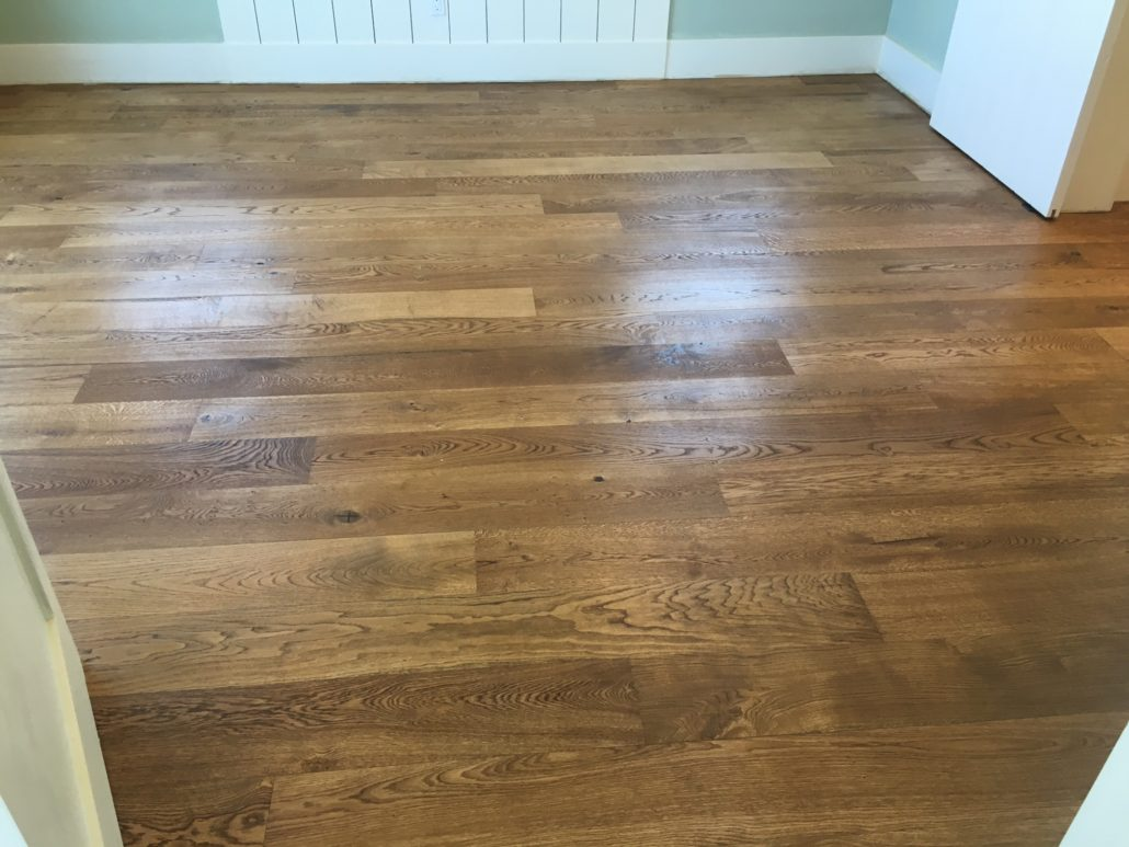 Engineered character grade white oak flooring