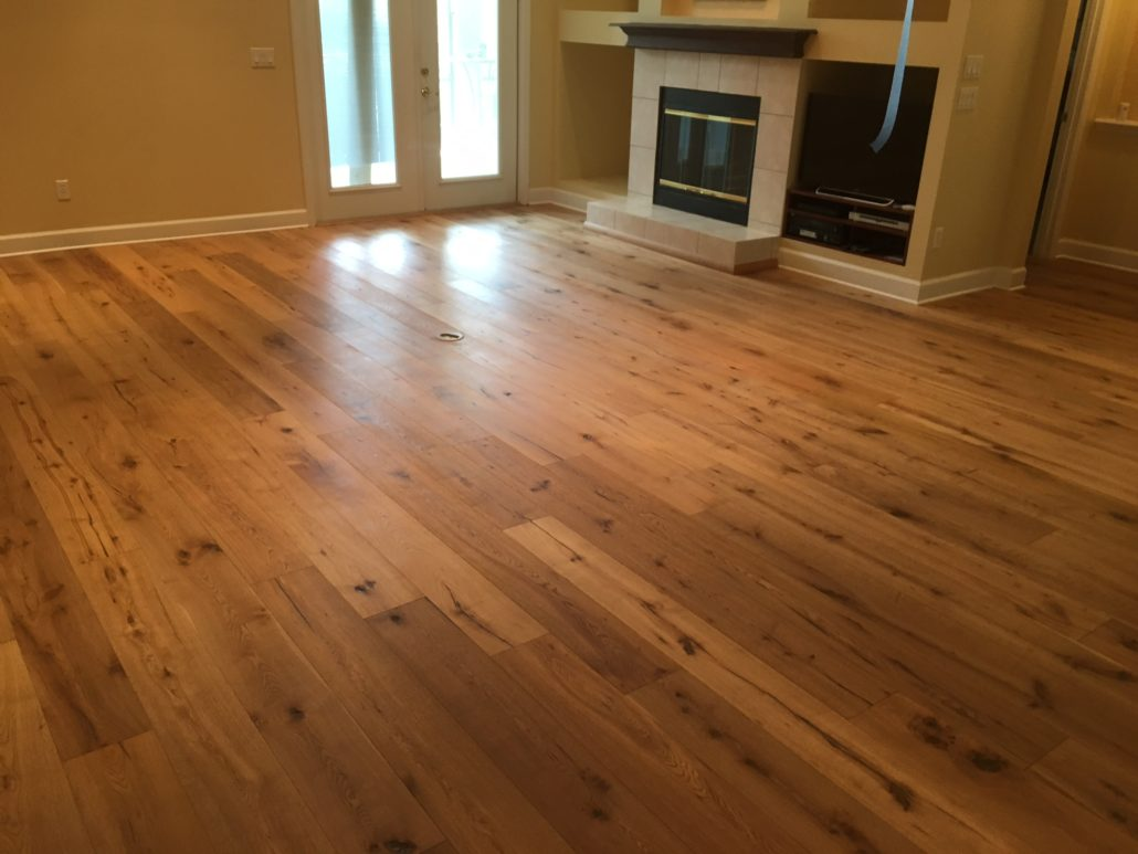 Engineered white oak character grade flooring