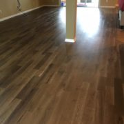 Wire brushed, engineered European white oak flooring
