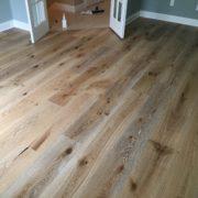 Wire brushed European white oak flooring
