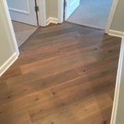 French/German White Oak wood flooring diagonally installed
