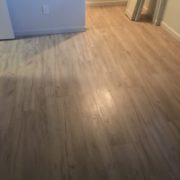 Installed laminate Oak flooring