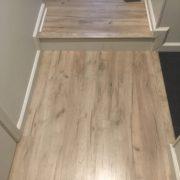 Installed laminate Oak flooring
