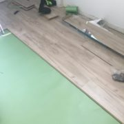 Installing laminate Oak flooring