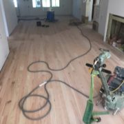 Sanding solid red oak flooring
