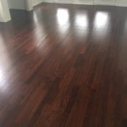 Brazilian Chestnut flooring installed