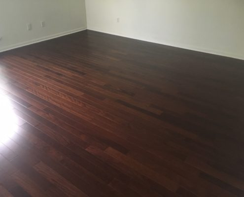 Brazilian Chestnut flooring installed