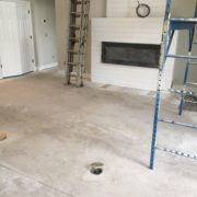 Concrete slab needs leveling prior to wood flooring installation