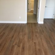 Luxury vinyl plank flooring - installed