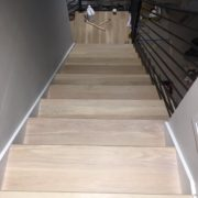 Match stained solid oak stair treads