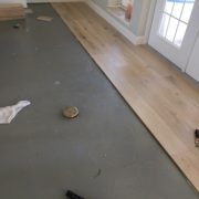 Installing French Oak hardwood flooring