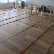 Installing french oak flooring with straps