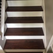 Match stained stair treads