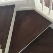 Match stained stair treads and landing