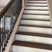 Match stained stair treads & rail