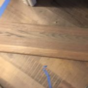 Matching stair tread stain to skip sawn-look White Oak flooring