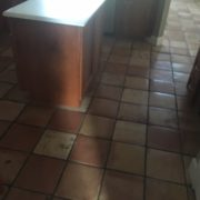 Mexican-style tile flooring to be removed.