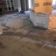 Prepping concrete slab subfloor