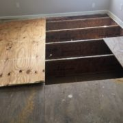 Replacing plywood subfloor