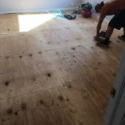 Replacing plywood subfloor
