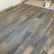 Skip sawn-look White Oak flooring