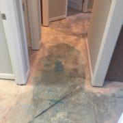 Concrete slab floor after tile removed