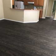 Sanded, stained and finished rotary peeled engineered wood flooring