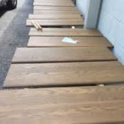Staining and finishing stair treads