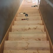 Staircase ready for match stained stair treads