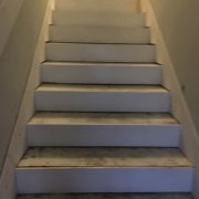 Staircase prior to stair tread installation