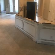 Tile flooring to be removed