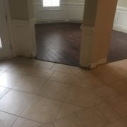 Tile and wood flooring to be removed