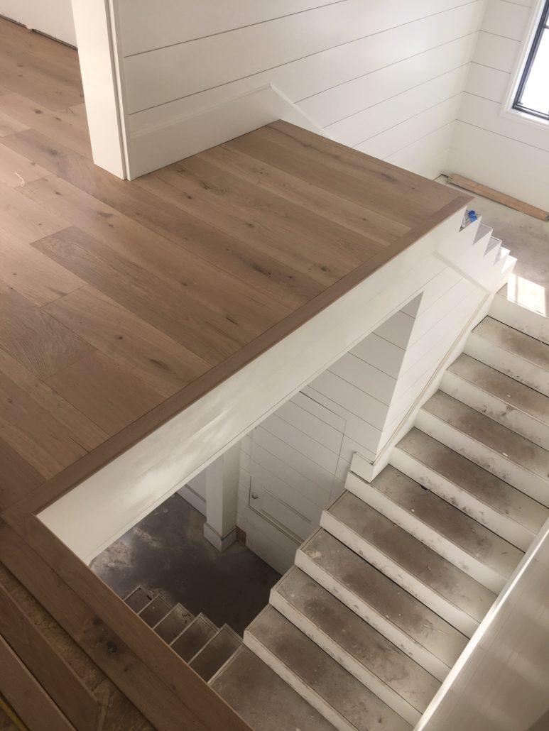 Engineered French Oak flooring installed