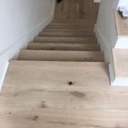 Engineered French Oak flooring installed