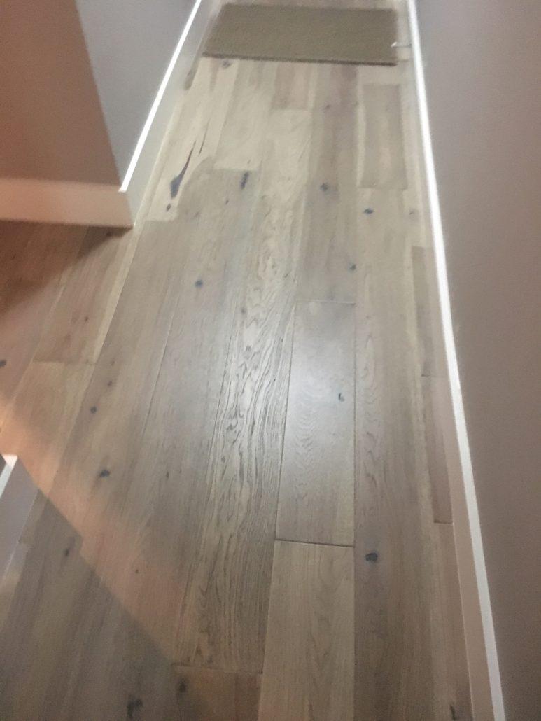 FSC Certified Hickory flooring - installed