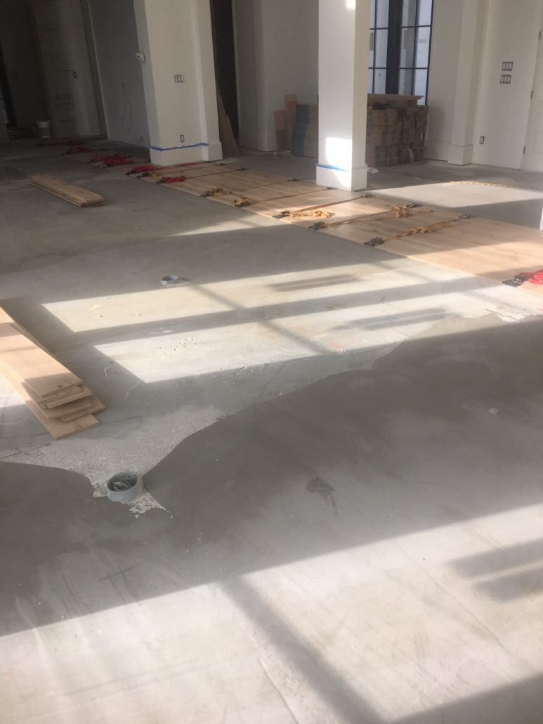 Installing French Oak flooring with flooring straps