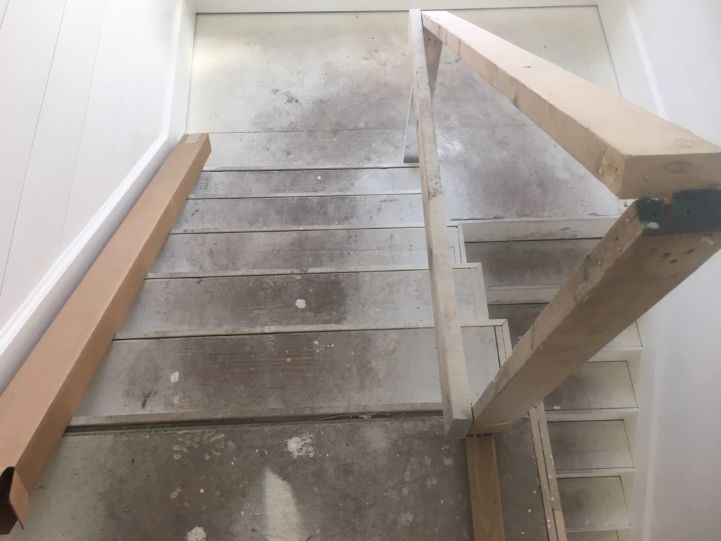 Pre-installation landing and stairs