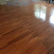 Installed solid Red Oak flooring with weave in