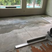 Leveling the concrete slab