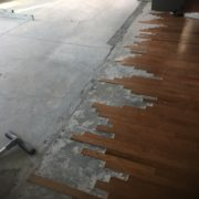Preparing concrete slab for wood flooring installation